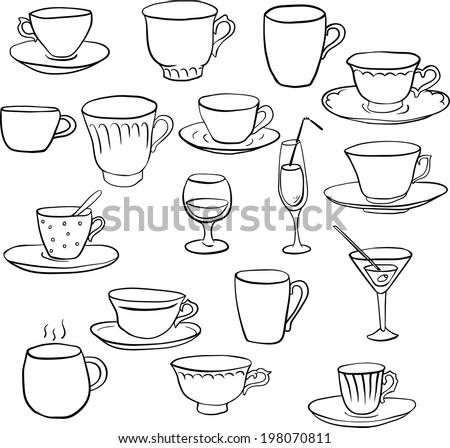 Hand Drawn Tea Cup Vectors - Download Free Vector Art, Stock ...