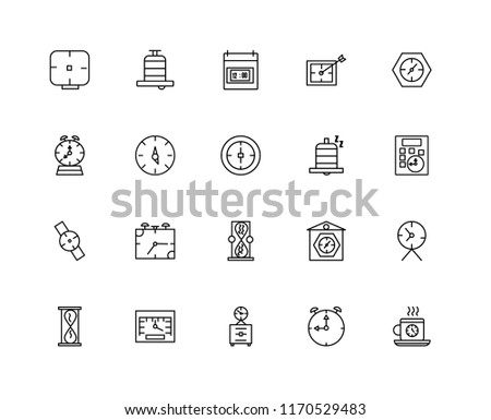 Wall Clock Icons Vector Pack - Download Free Vector Art, Stock