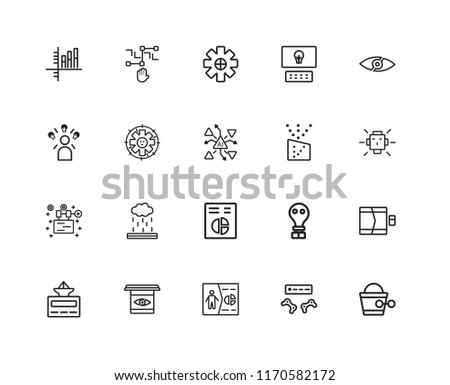 set of 20 linear icons such as