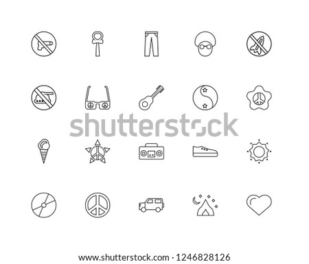 set of 20 linear word peace