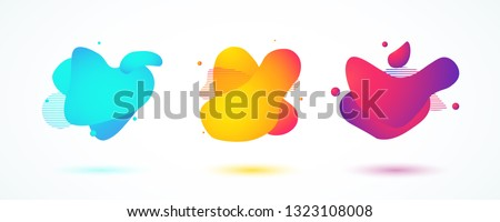 Set of liquid color abstract shapes. Fluid design colorful banners. Vector illustration. EPS 10 #1323108008