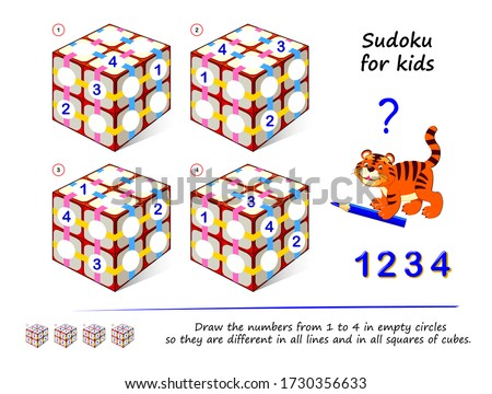 set of logic 3d sudoku puzzle
