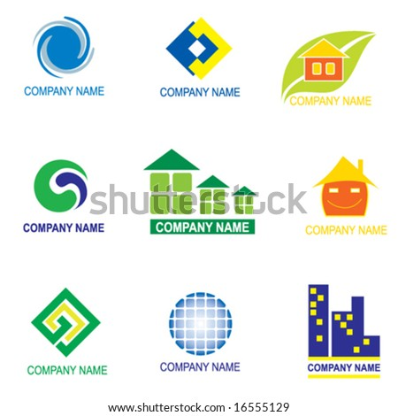 set of logo design - real estate