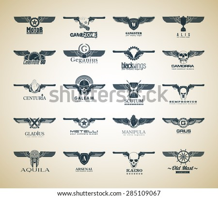 set of 20 logo vector logotype