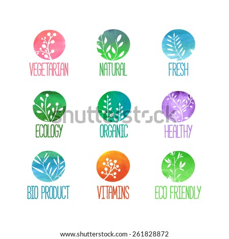 set of logos  icons  labels