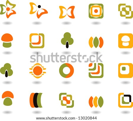 set of logos - nature - 30