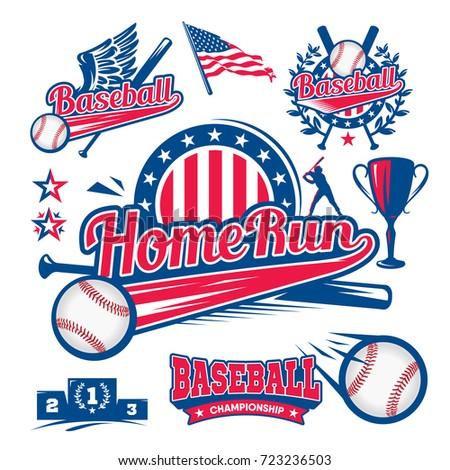 stock-vector-set-of-logos-of-baseball-ball-bit-player-run-to-base-home-run