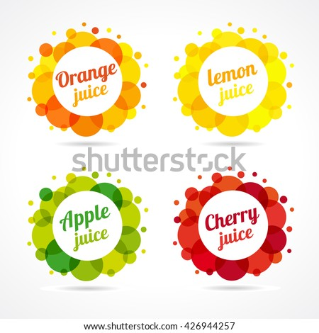 set of logotypes food and