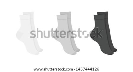 set of long socks white  gray
