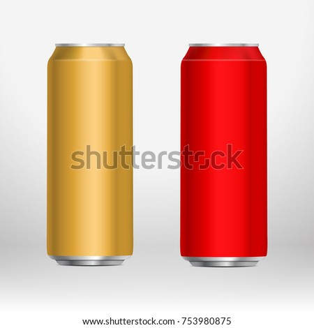 set of long  tall cans in two