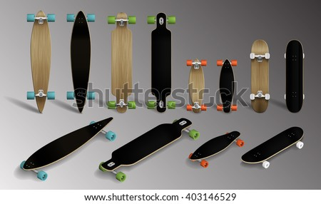 different skateboards