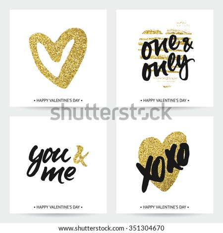 set of love cards for wedding