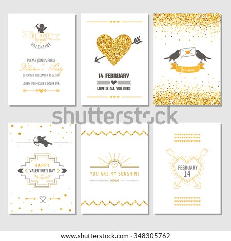 set of love cards   wedding
