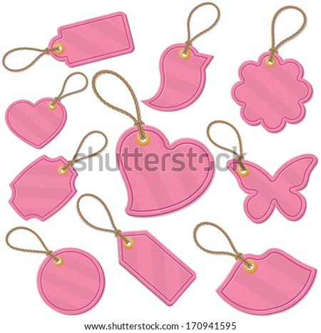 Set of love related tags