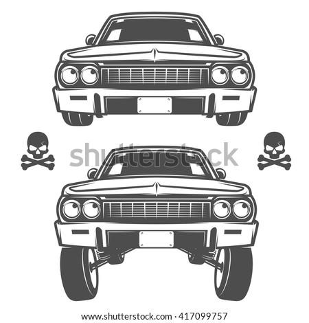set of lowrider cars lowrider