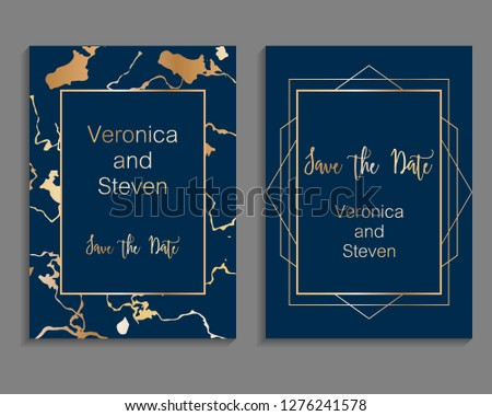 Set of luxury cover templates. Vector cover design for wedding invintation, placards, banners, flyers, presentations and business cards #1276241578