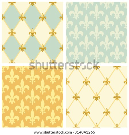 set of luxury seamless patterns