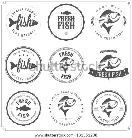 set of made with fish stamps
