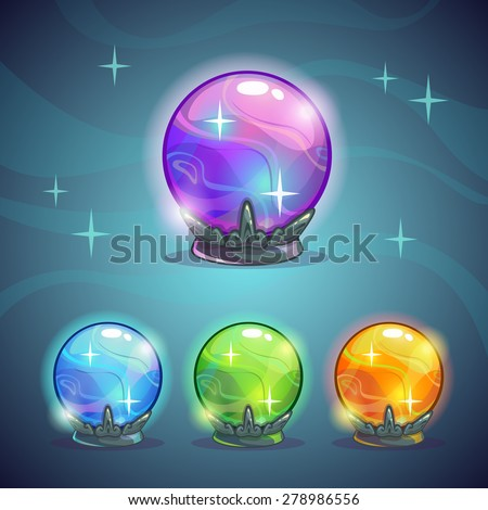 set of magic crystal balls