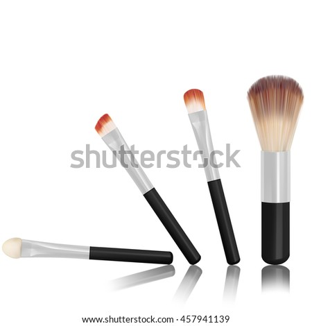set of make up brushes isolated