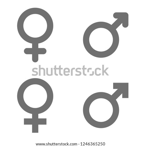 Set of male and female symbols