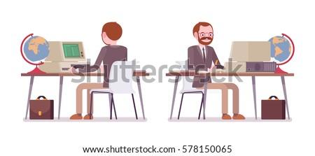 set of male professional
