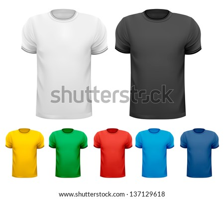 set of male t shirts vector