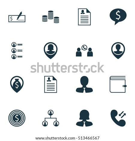 Set Of Management Icons On Business Goal, Money And Wallet Topics. Editable Vector Illustration. Includes Cash, Career, Organisation And More Vector Icons.