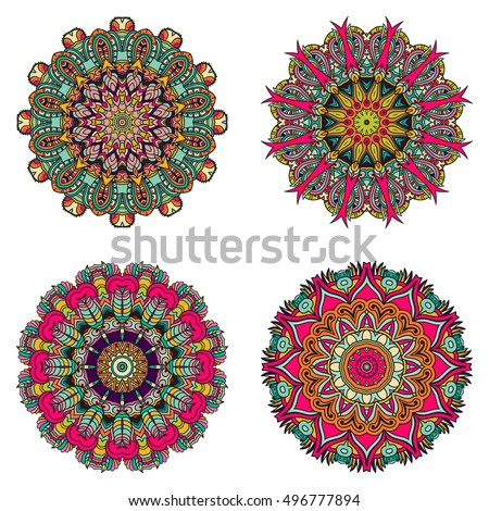 Set of mandalas. Vector mandala collection for your design. Unusual mandalas can be used for mandala design or mandala art.