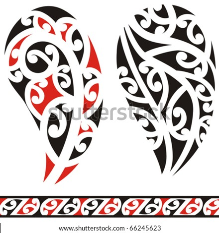 stock vector : Set of maori tribal tattoo