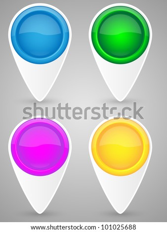 Set of map pointer icon. Vector illustration.