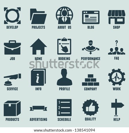 Set of marketing internet and service icons - part 2 - vector icons