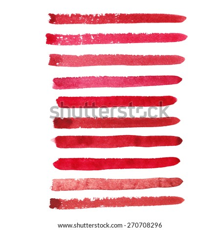 set of marsala color brush