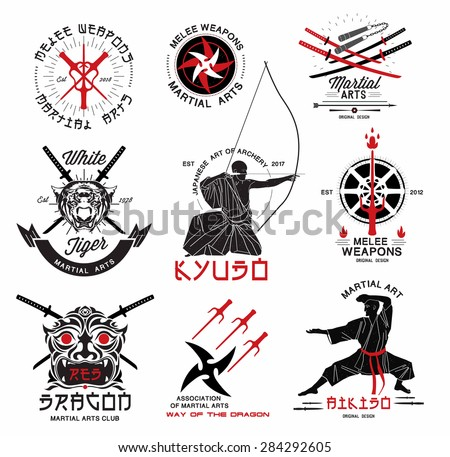 set of martial arts   riental