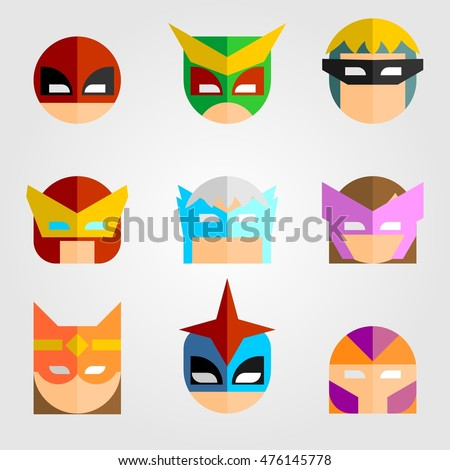 set of mask of super hero face