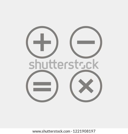 Set of mathematical signs. Mathematical symbols icons