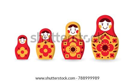 set of matryoshka russian