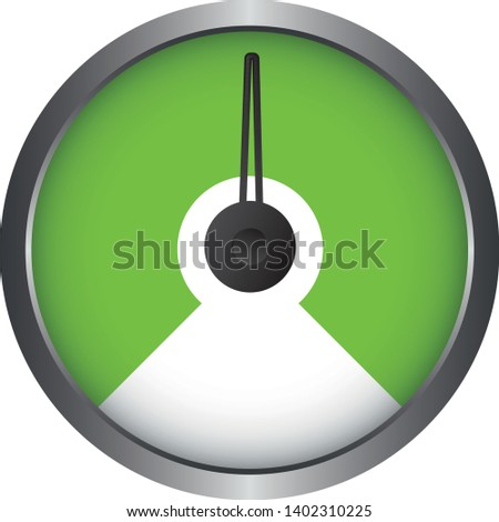 Set of Measuring Vector Icons - 1 Segment - Speedometer