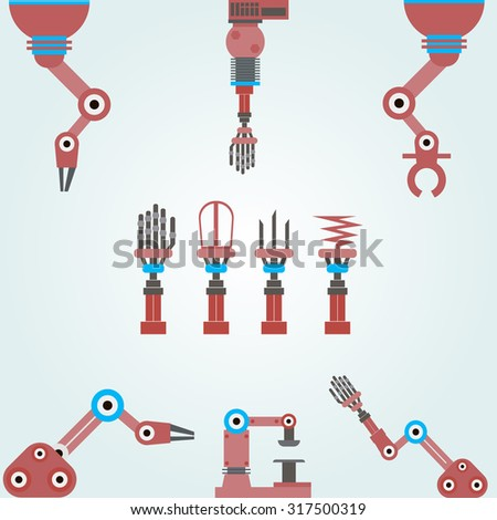 set of mechanical arms  robots