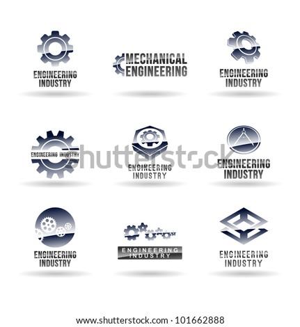 Set of mechanical engineering icons (set 1). Mechanic icon.