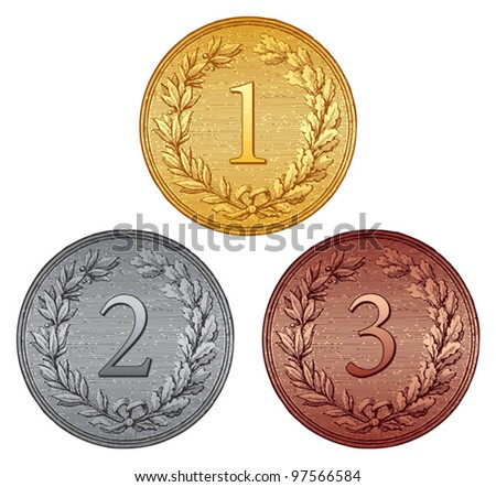 Set of medals (vintage style)