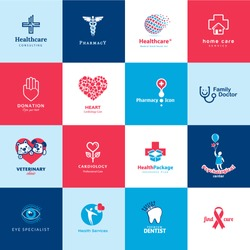 Set of medical and healthcare icons