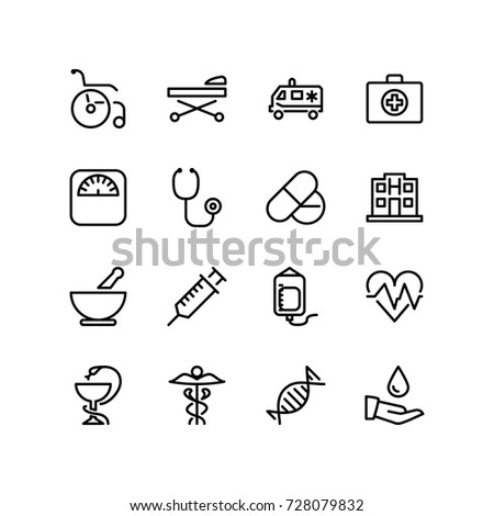 Set of medical equipments and facilities