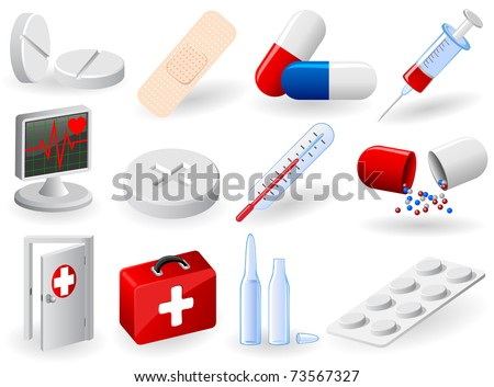 Set of medical icons, illustration