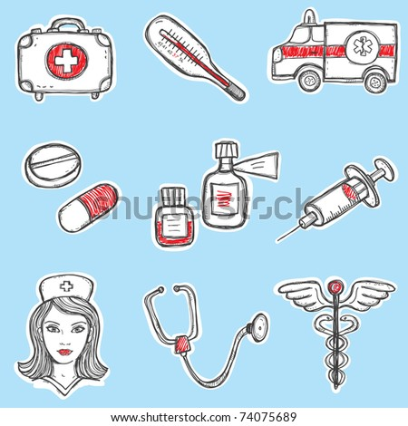 Set of Medicine Elements
