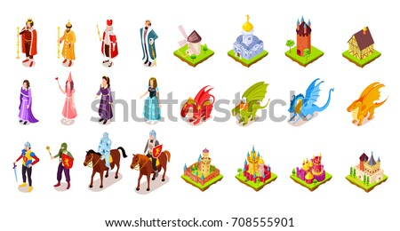 set of medieval characters