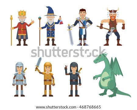 set of medieval fantasy