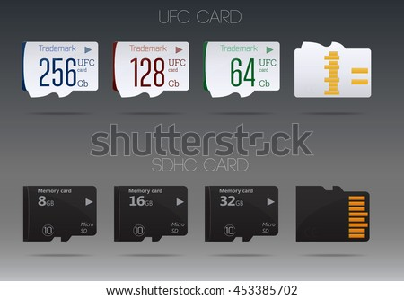 Stock Vector Set Of Memory Cards Diverse