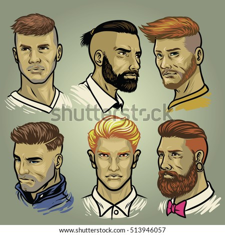 set of men's hair styles