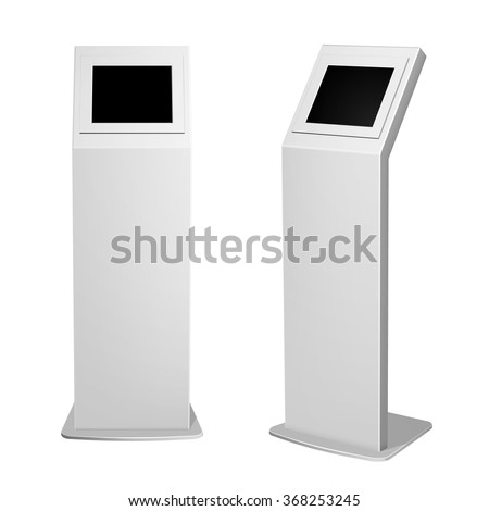 Set of metal display advertising vertical white for indoor and outdoor use.